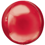 "15"" Red Foil Orbz balloon"